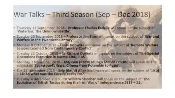20180731-War Talks – Third Season (Sep –