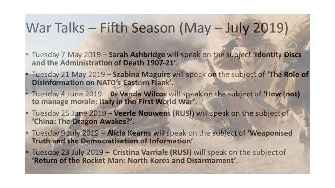 20190401-War Talks – Fifth Season (May - July 2019).
