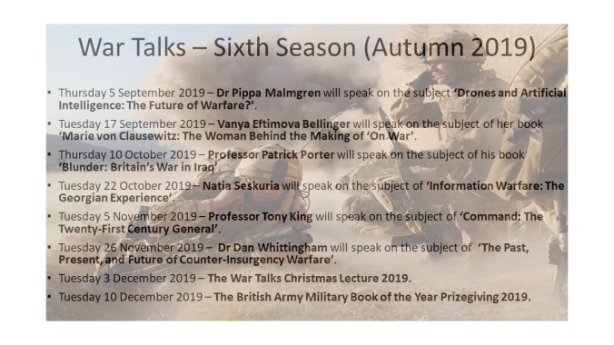 20190726-War Talks – Sixth Season (Sep - Dec 2019).