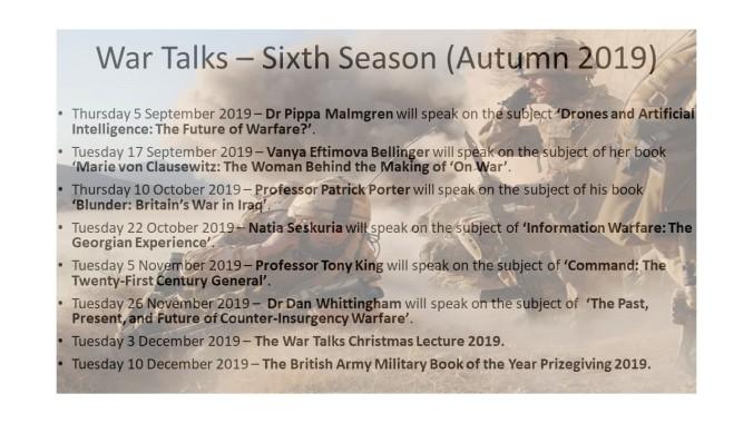 20190726-War Talks – Sixth Season (Sep - Dec 2019).